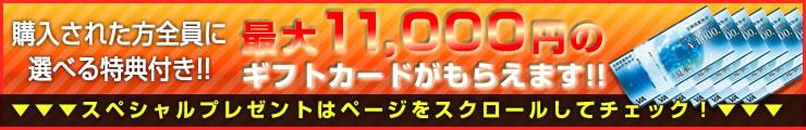 最大11000円のギフトカードがもらえます!